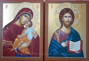Пара икон_Богородица Умиление