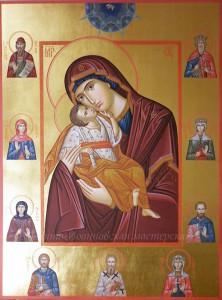 Богородица Умиление с избранными святыми